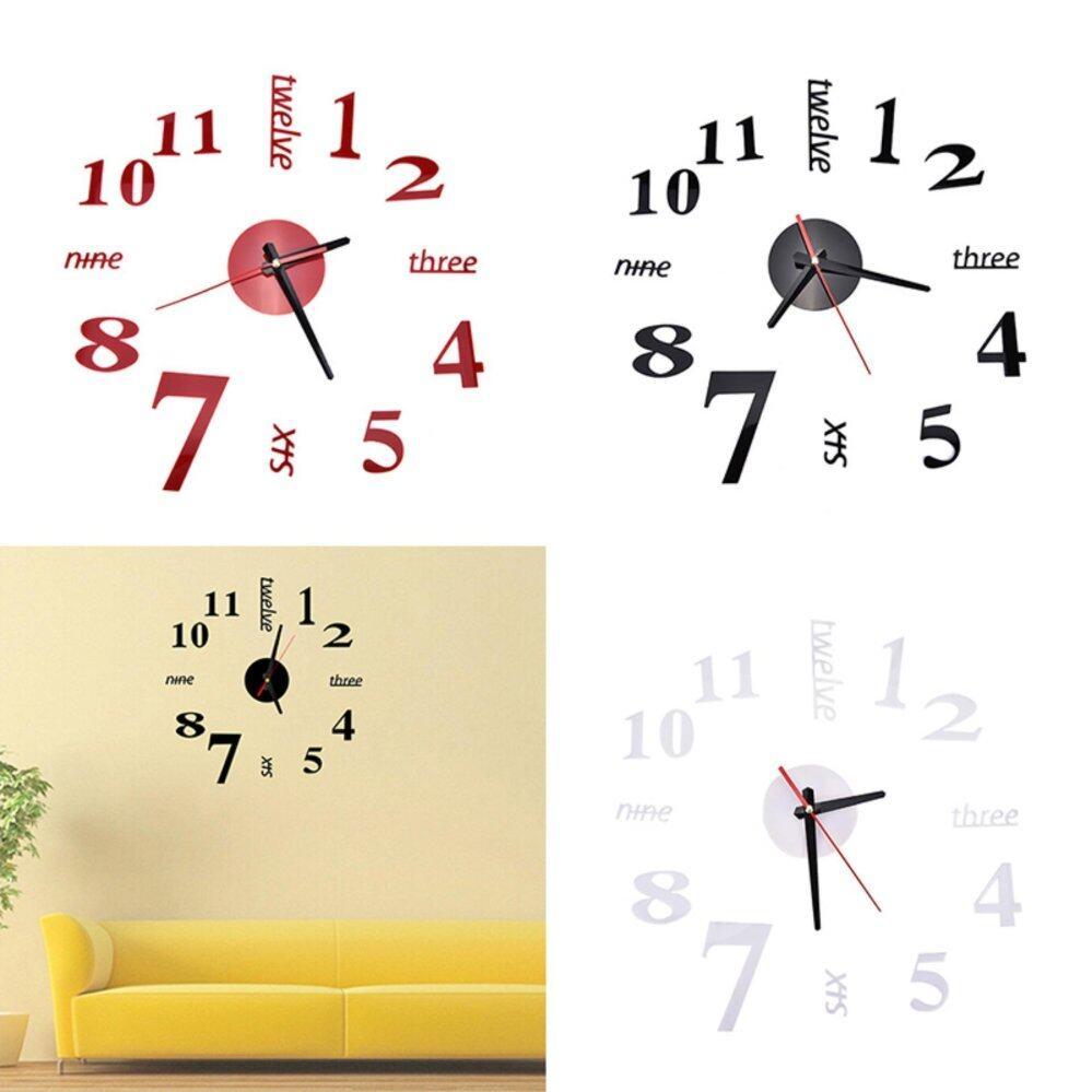 Bandingkan & Simpan Modern Art DIY Large Wall Clock 3D Sticker ...