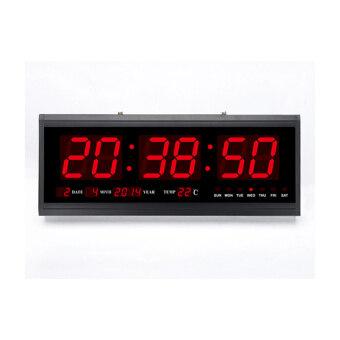 Modern Digital Led Wall Calendar Desk Clock Black Lazada Malaysia