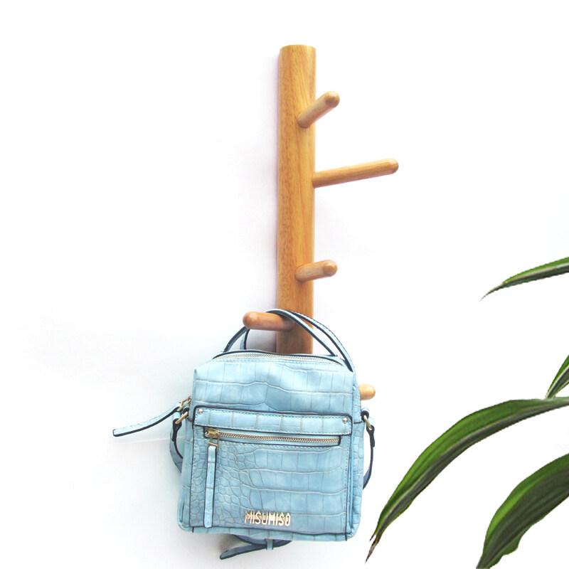 Buy Modern minimalist oak wall hanger bag hook adhesive hook Malaysia