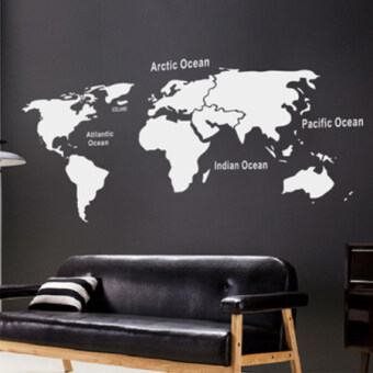 Kelebihan beli world map removable vinyl wall sticker wallpaper home modern minimalist wall stickers cultural wall office paper sticker world map gumiabroncs Choice Image