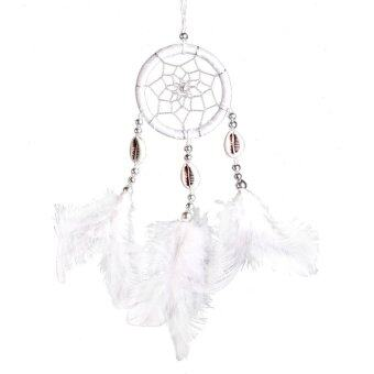 Monocyclic Teeth Dream Catcher Wall Hanging Home Car Decor (White)