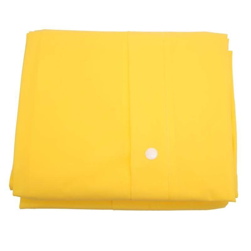 moob Unisex Translucent Raincoat, Eco-friendly EVA Fashion Lightweight Raincoat Rain Cape Poncho With Backpack Position,Yellow