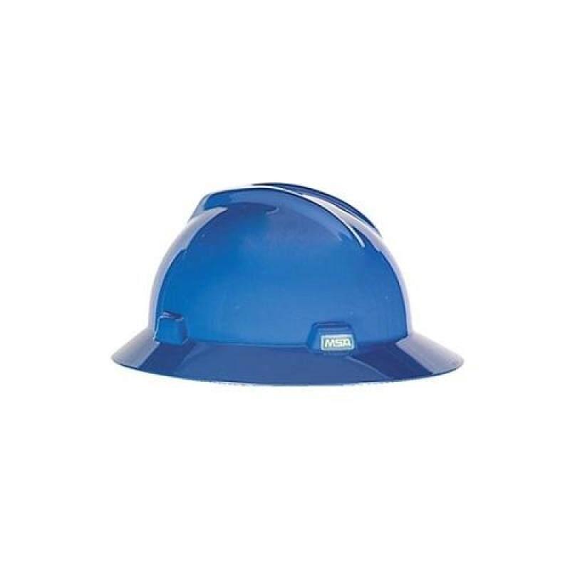 MSA V-Gard Hat. Blue. Fastrac Suspension