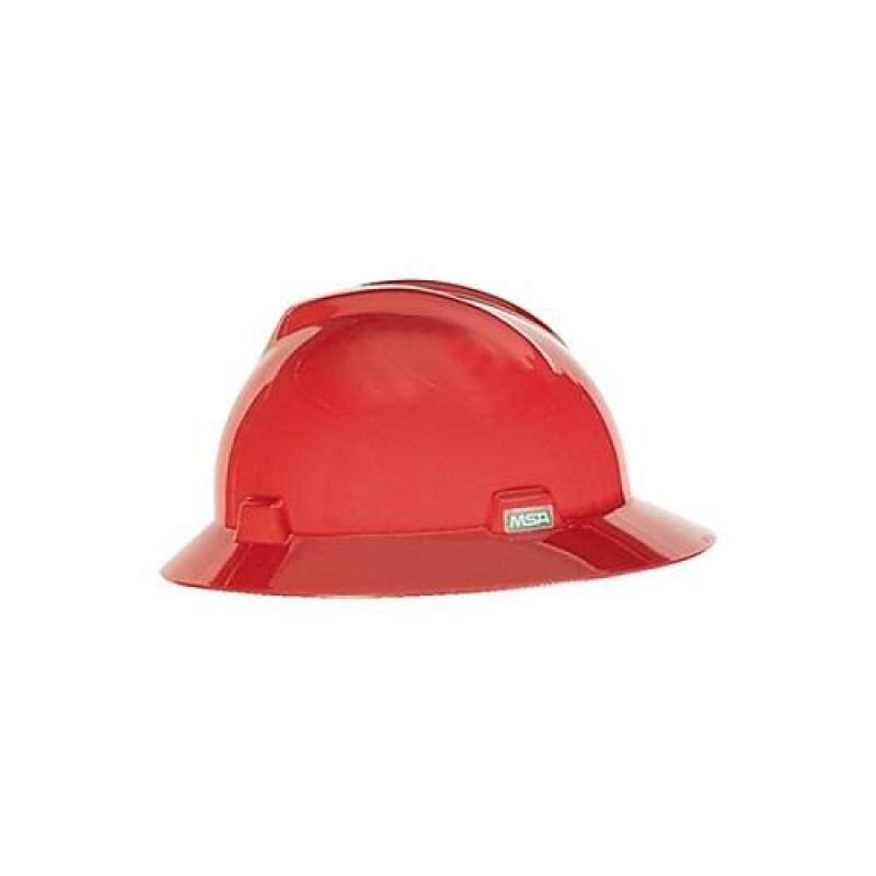 MSA V-Gard Hat. Red. Fastrac Suspension