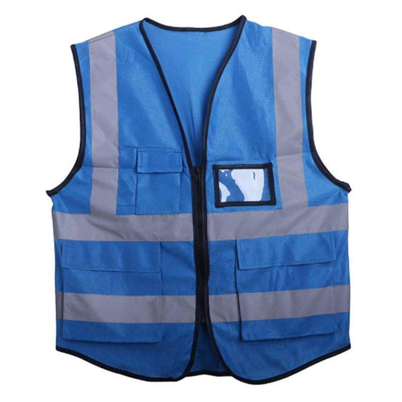 Buy Multicolor Hi-Vis Safety Vest Reflective Jacket Security Waistcoat 5 Pockets Malaysia