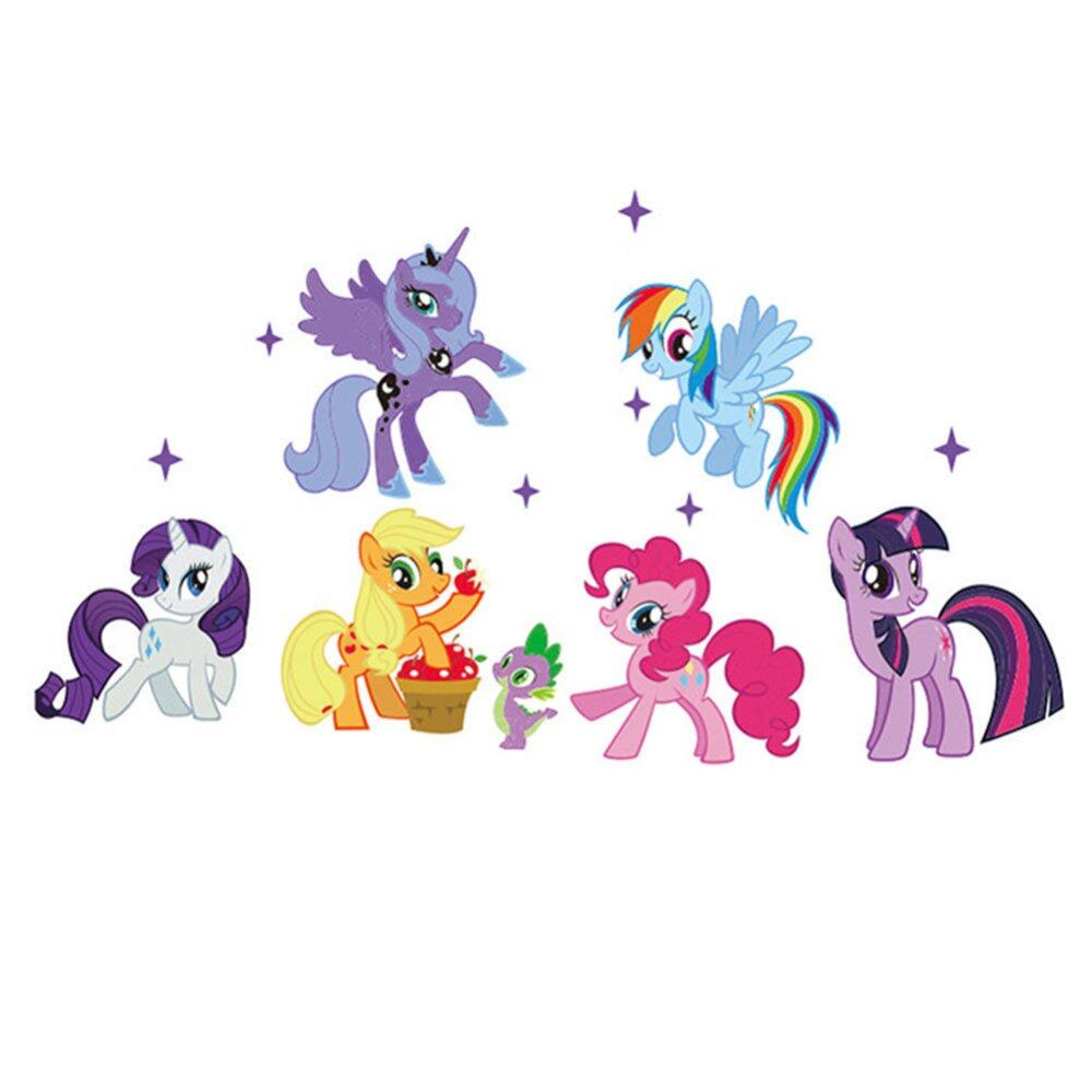 wall stickers childrens wall stickers childrens my little pony ponies removal 6 wall stickers childrens room girls lazada