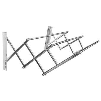 MyHome Stainless Steel Wall Mounted Retractable Racks (5ft) - 3