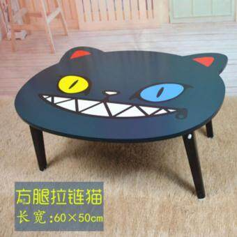 Naughty Cat NoteBook Computer Table Bed Table Foldable Hostel Dorm Room Desk Coffee Tea Study Desk Foldable Multi-functional Mini Bed Lazy Table Desk