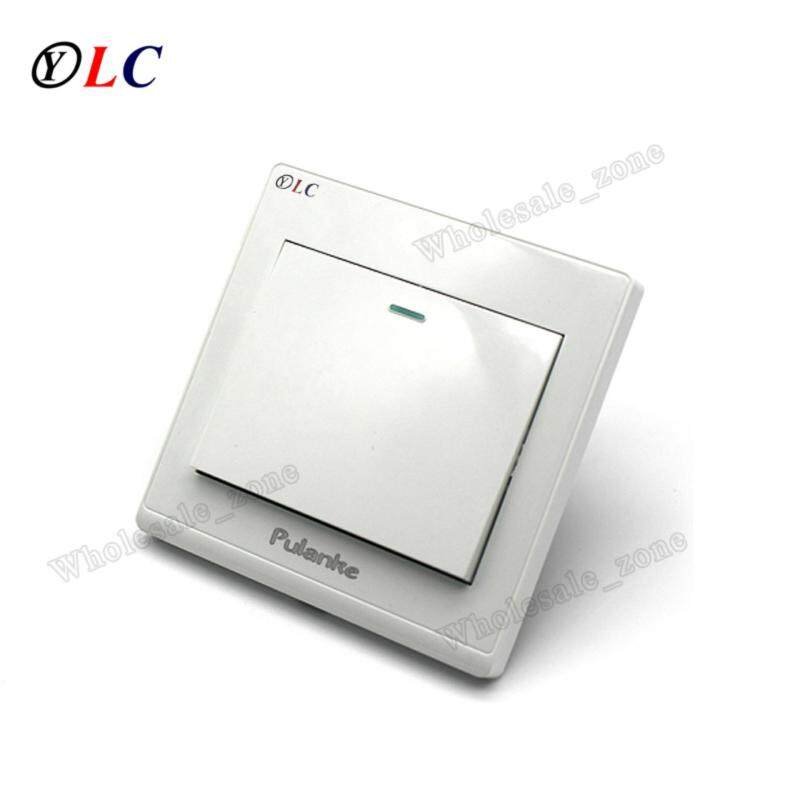 Buy NEW White Wall Switch / 86 Plane Household Hotel Public Lamp Switch / Light Switch AC 250V 10A / An open double control Malaysia