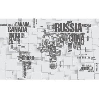 World Map Wallpaper new+unique! large world map wallpaper (grey) | lazada malaysia