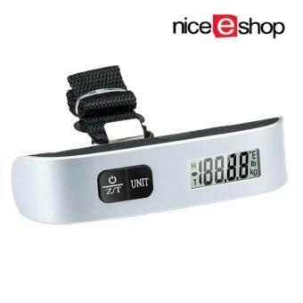 niceEshop Hanging Portable Digital Luggage Scale Gadget Suitcase Weighing (Silver Black) - Intl