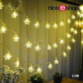niceEshop LED Snowflake Lights Battery Operated 8.2ft 20 LEDS ...