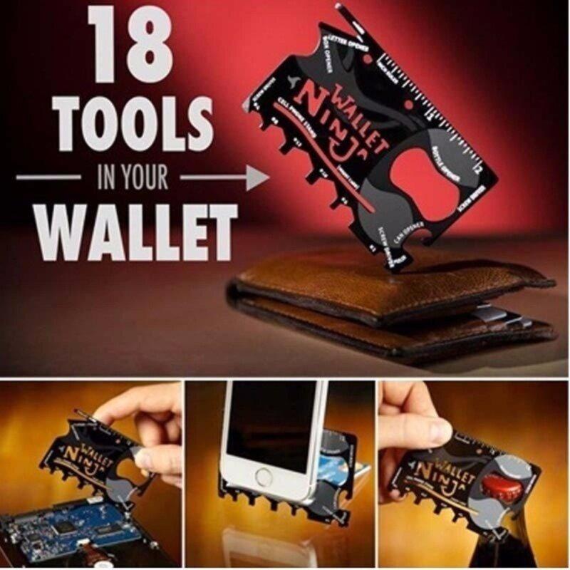 Buy NINJA WALLET-18-in-1 tool in your wallet Malaysia