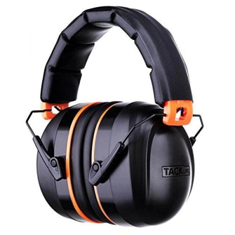 Noise Reduction Safety Ear Muffs, Tacklife HNRE1 Shooters Hearing Protection Ear Muffs,Folding-Padded Head Band Ear Cups, NRR 28dB Professional Ear Defenders, light weight