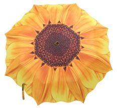 nonvoful Women Portable Sunflower Folding Travel Rain Umbrella Parasol,Yellow Malaysia ...