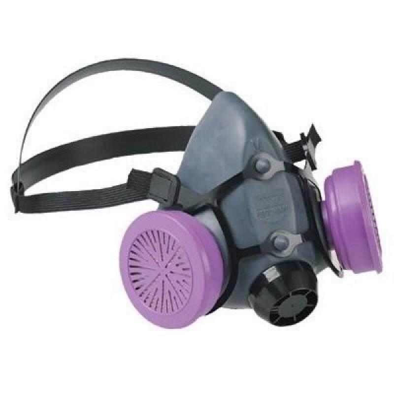 North by Honeywell 550030M 5500 Series Low Maintenance Half Mask Respirators, Medium, Purple
