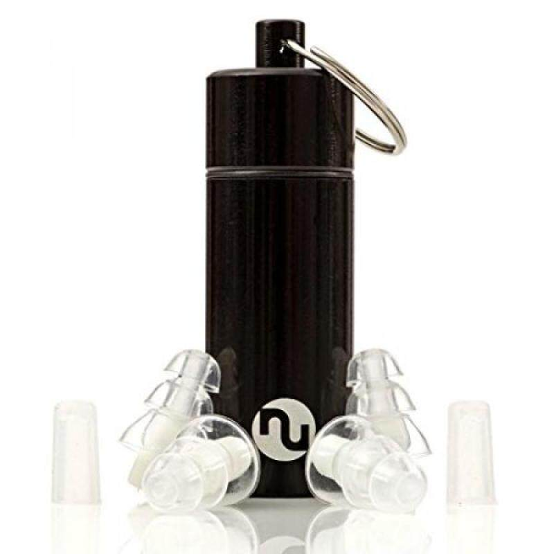 NU Ear Plugs - High Fidelity & Discreet Earplugs for Musicians, Travel, Motorcycles, Concerts, Festivals, Drummers & Percussion - Comfortable Silicone, Aluminum Case, Variable Loud Sound Protection