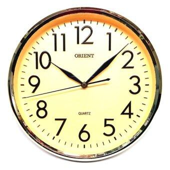 Harga Orient OR117 Japan Quartz Wall Clock- Gold Dial (Chrome Gold)