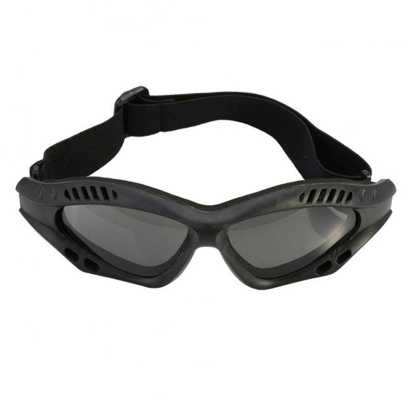 Outdoor Airsoft Protective Safety Goggles With Adjustable Strap (black)