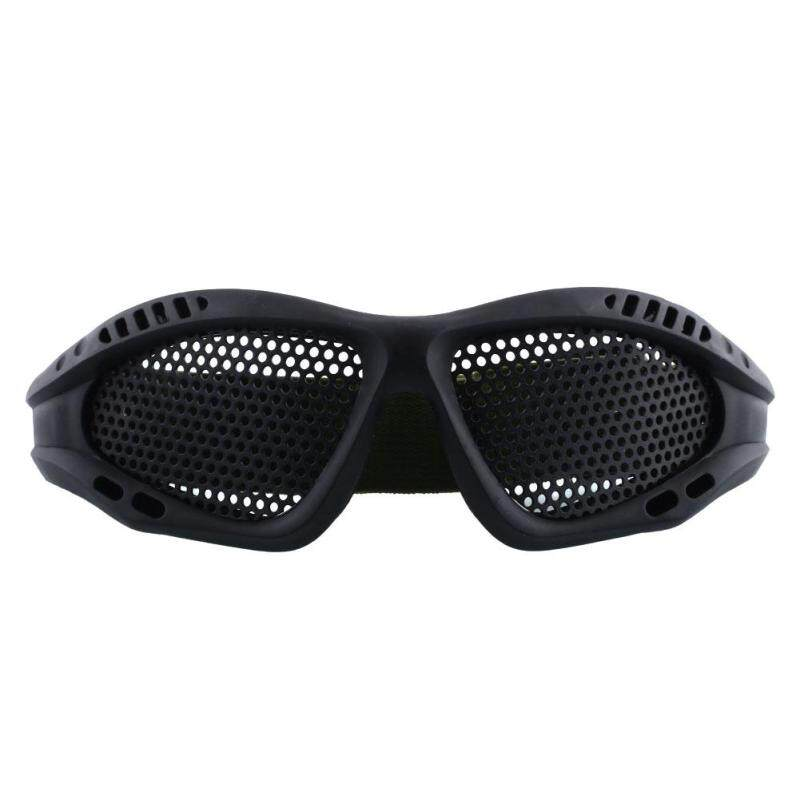 Buy Outdoor Eye Protective Safety Goggles CS Game With Metal Mesh Sport Glasses Malaysia