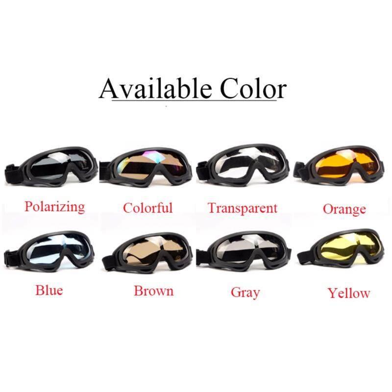 Buy Outdoor Motorcyle Goggle Glasses Anti-UV Eyegear Antifog Anti-rain Windproof Lens Malaysia