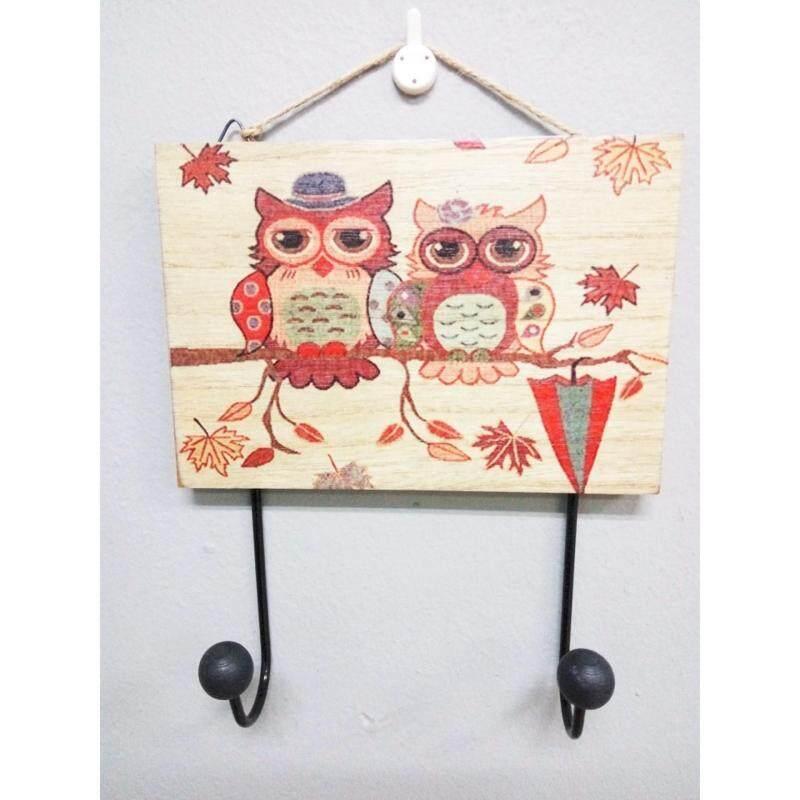 Owl Wooden 2 Hook - Umbrella