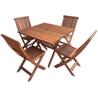palmer 5piece outdoor dining set with foldable chairs and table