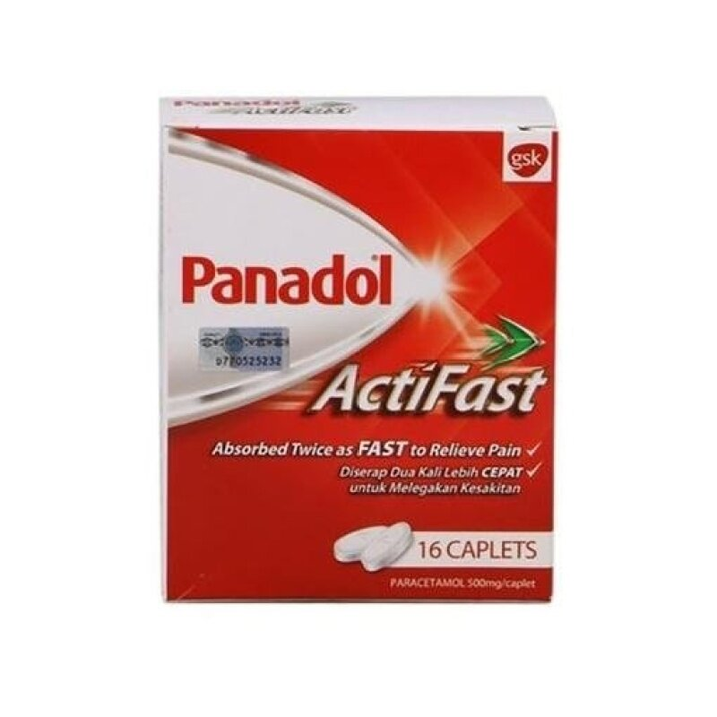 Buy Panadol Actifast 500Mgs 16'S/Box Malaysia
