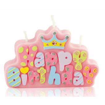 Harga Party Time Pink Happy Birthday Candle