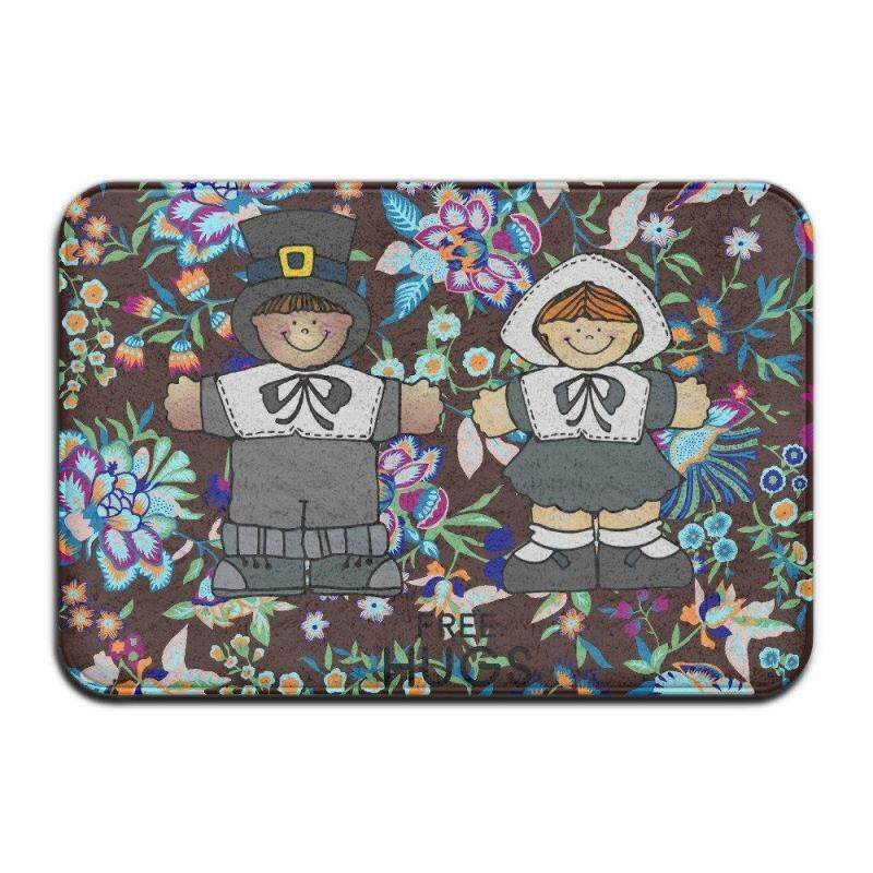 Buy Pilgrim Couple FREE HUGS Happy Thanksgiving Doormatnicedoor Mat Indoor Door Matsdesign Mats 4060 Malaysia