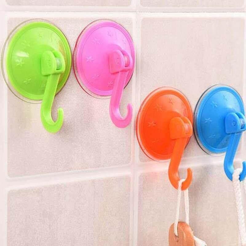 Buy Plastic Bathroom Colorful Powerful Suction Cup Towel Coat Robe Single Hook Rack Malaysia