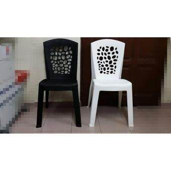 Harga Plastic Chair -Cafe style-Black- 2 Units