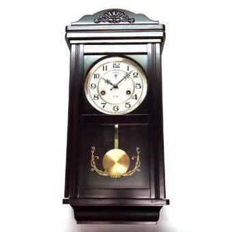 Polaris 2061 Wooden Mechanical 31Day Pendulum Wall Clock Black
