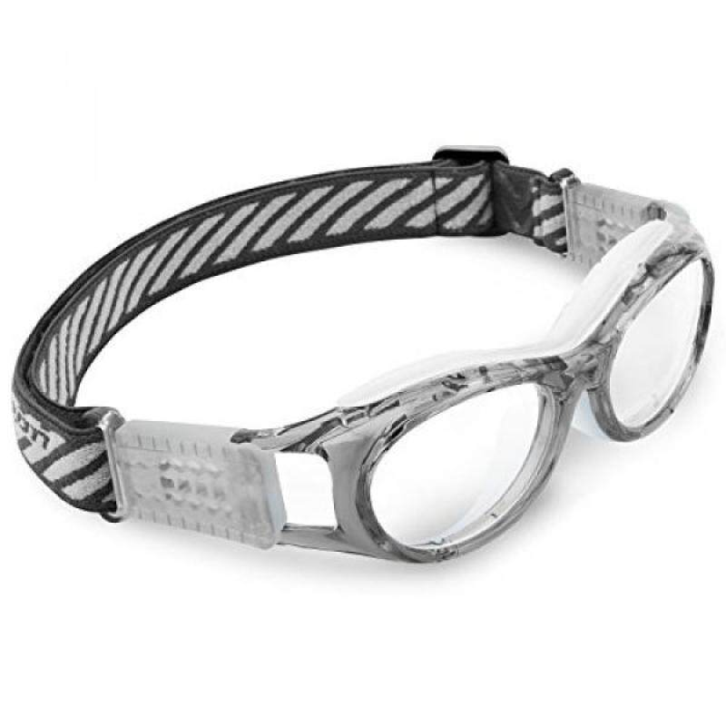 Buy Ponosoon Sports goggles for KIDS for basketball football volleyball 853 (Transparent Grey with White) Malaysia