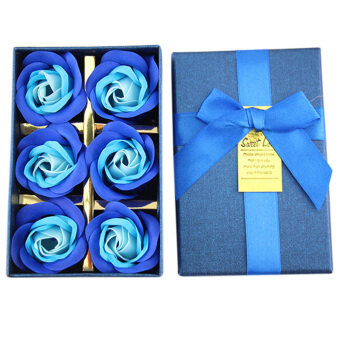Harga Popular Creative Rose Flower Soap flower and bear gift box weddingdecoration artificial flowers soap - Blue