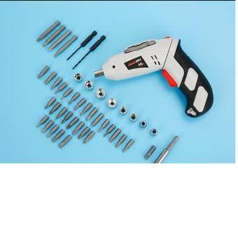 Portable Mini Household Tools Rotatable Cordless Rechargable FullBlack & White Omni - Drill Set