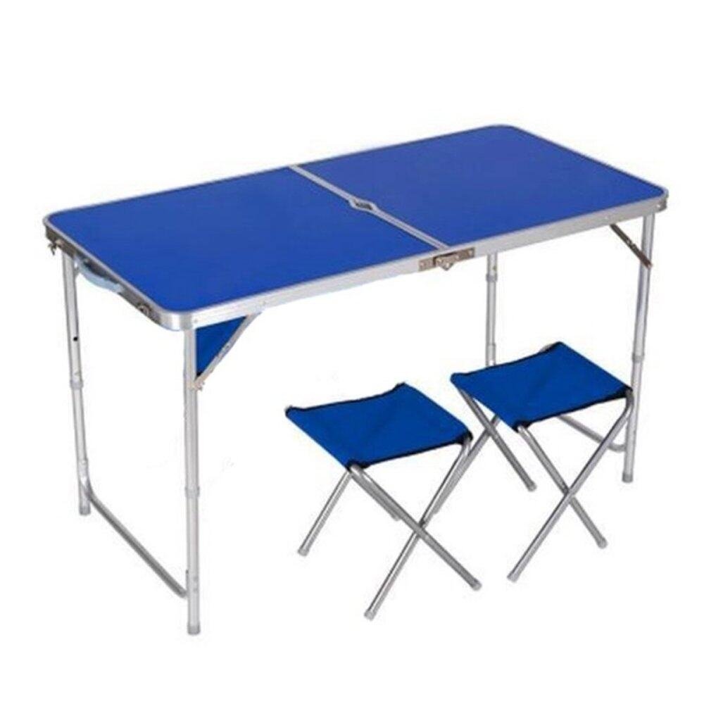 Portable Outdoor Two Way Aluminum Folding Table DHFF126 Blue