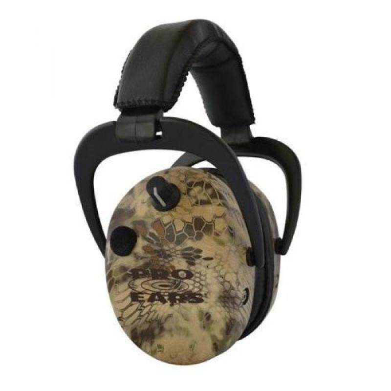 Pro Ears - Stalker Gold - Electronic Hearing Protection and Amplification Earmuffs - NRR 25 - Highlander