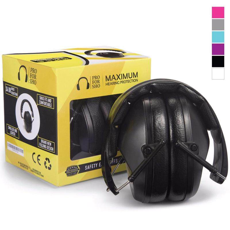 Buy Pro For Sho 34dB Shooting Ear Protection - Special Designed Ear Muffs Lighter Weight & Maximum Hearing Protection , Black Malaysia