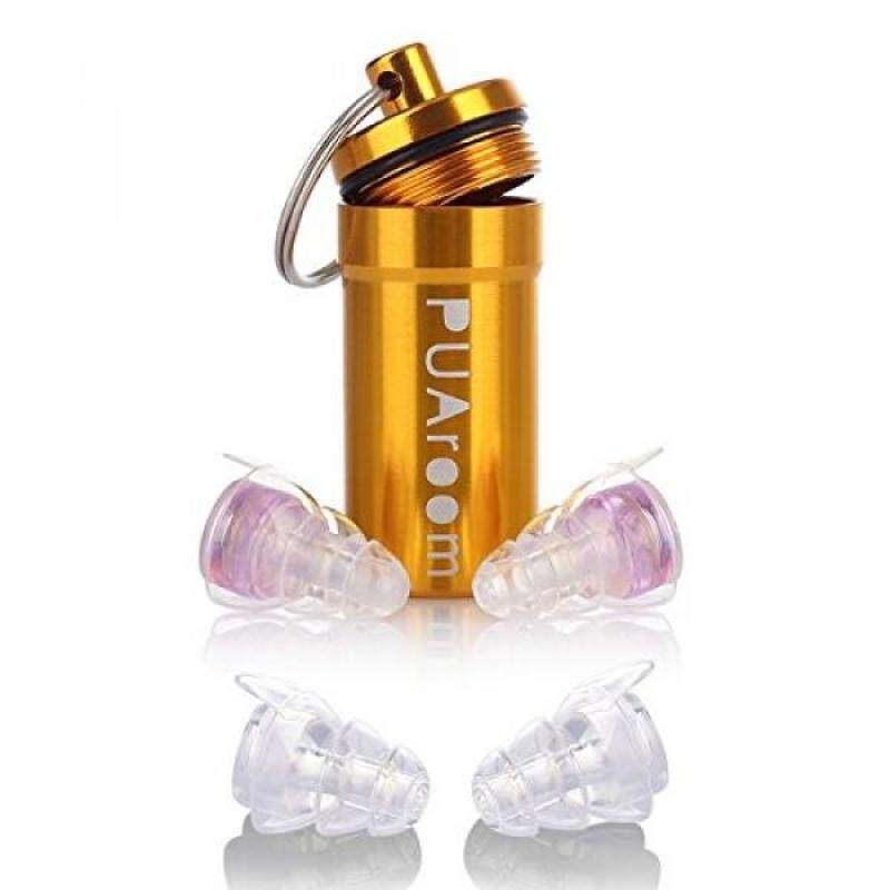 Buy PUAroom 2 Pair Earplugs High Fidelity Ear Plugs with Aluminum Case, Noise Canceling Filter Reusable All Ears Earplugs for Musicians/Snoring/Concerts /Travel/ Sport Drummers/Home Improvement/DJ(Purple) Malaysia