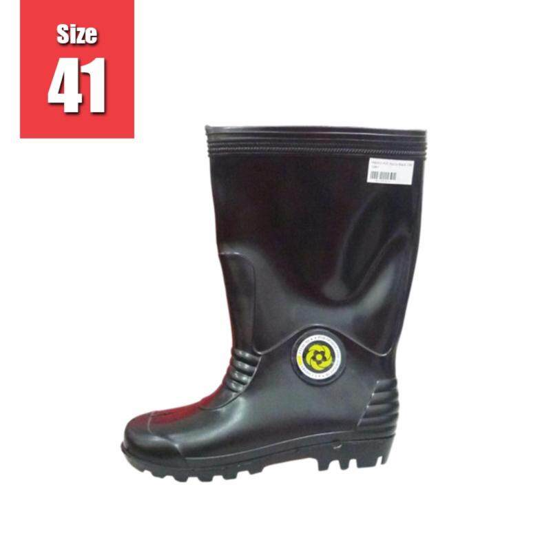 PVC Anti-Slip Waterproof Rain Boots - Black   Size 41 (M6000) 1pair