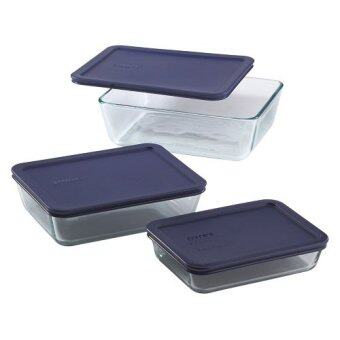 Pyrex 6pc Rectangular Glass Storage Set