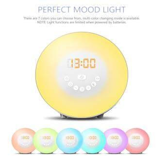 QNIGLO 7 Colors Light Wake Up Light Alarm Clock