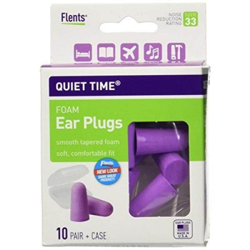 Quiet Time Comfort Foam Ear Plugs - 10 Pair - 33NRR (Pack of 3)