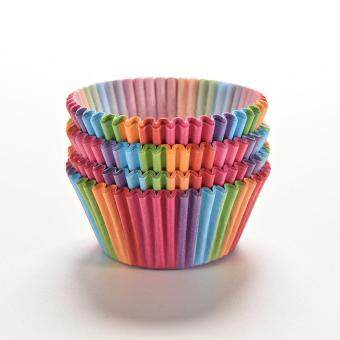 Rainbow Color 100Pcs Cupcake Liner Baking Cup Cupcake Paper MuffinCases Cake Box Cup Tray Cake Mold Decorating Tools