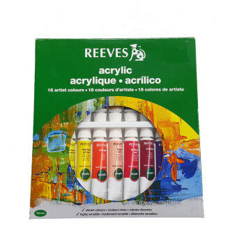 Harga Reeves Acrylic Colours Set of 18
