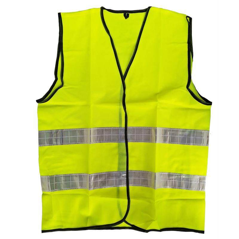 Reflective Vest in Fluorescent Green with 2 High Reflective Strips