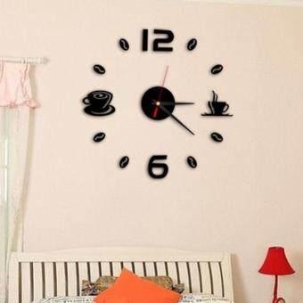 Removable Diy Acrylic 3D Mirror Wall Sticker Decorative Clock