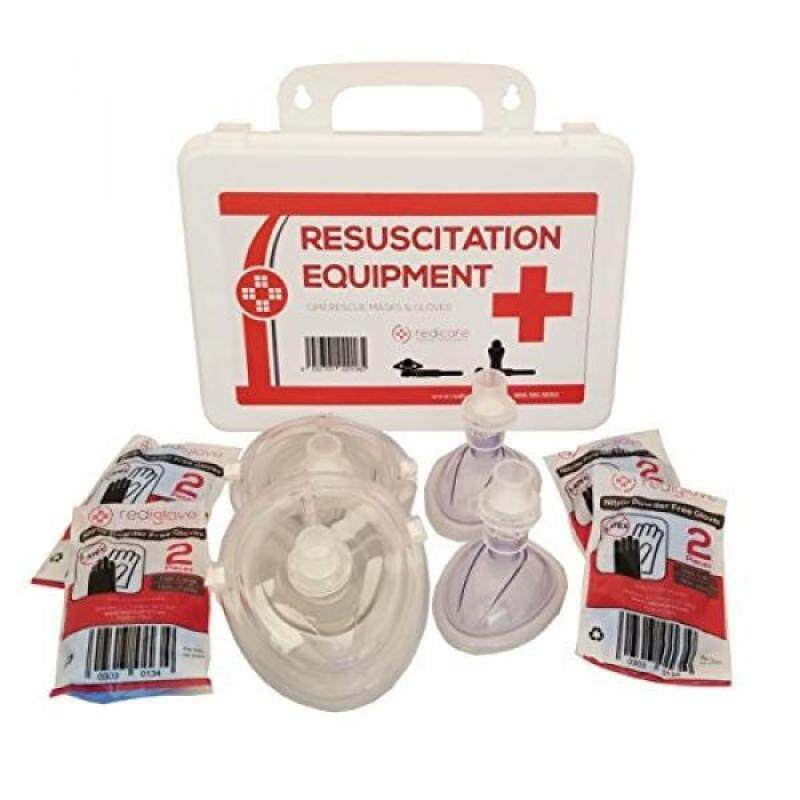 Resuscitation Equipment Kit, Plastic Case, CPR Emergency Rescue Mask for Mouth to Mouth (Large)