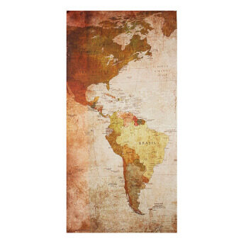 Retro World Map Framed Picture Canvas Print Wall Art Painting Ready To Hang - 5